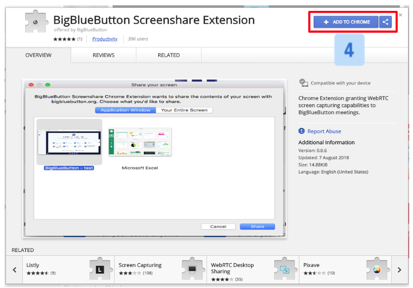 How do I use WebRTC Screen Sharing? – Blindside Networks Customer