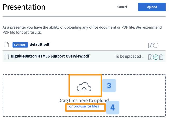 Upload a presentation & enable for download – Blindside
